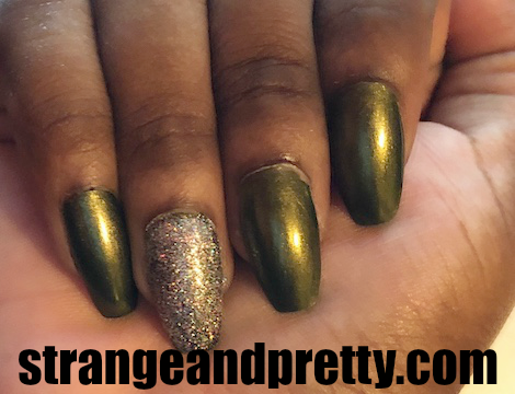 Coffin nsils with China Glaze Agro and Pop Beauty Twinkle