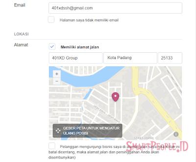 Informasi Halaman Email dan Alamat