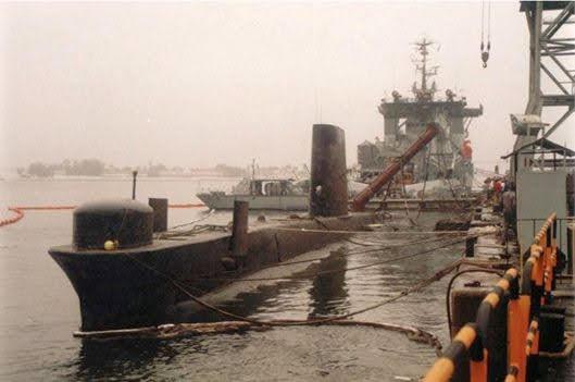 Maniobra de rescate del submarino brasileño Tonelero (Marihna Brasil).