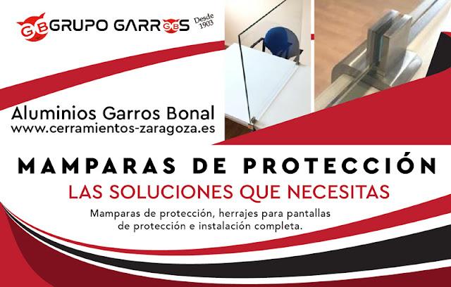 mamparas protección Zaragoza