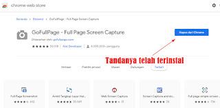 Cara Full Page Screenshoot Menggunakan GoFullPage di Google Chrome
