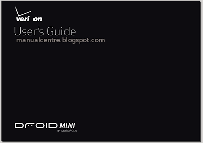 Motorola Droid Mini Verizon Manual Cover