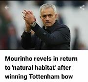 "Mourinho revels in return to ""NATURAL HABITAT"" after winning Tottenham bow"