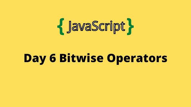 HackerRank Day 6: Bitwise Operators 10 days of javascript solution