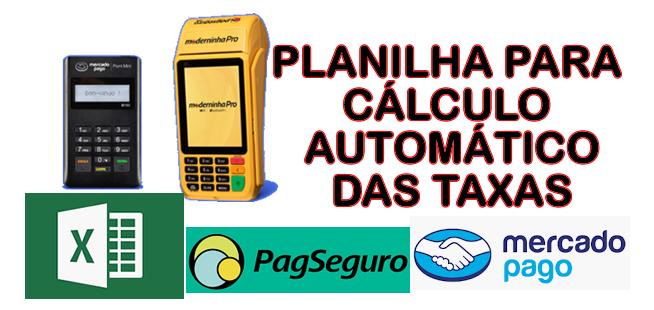 Planilha Para Cálculo das Taxas das Máquinas de Cartão de Crédito
