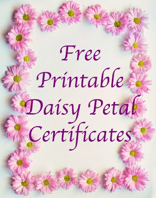 Free Daisy Girl Scout petal printables for leaders