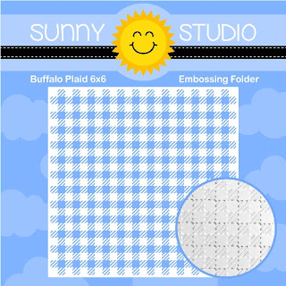 Sunny Studio Stamps: Buffalo Plaid 6x6 Embossing Folder with Gingham Embossed Texture