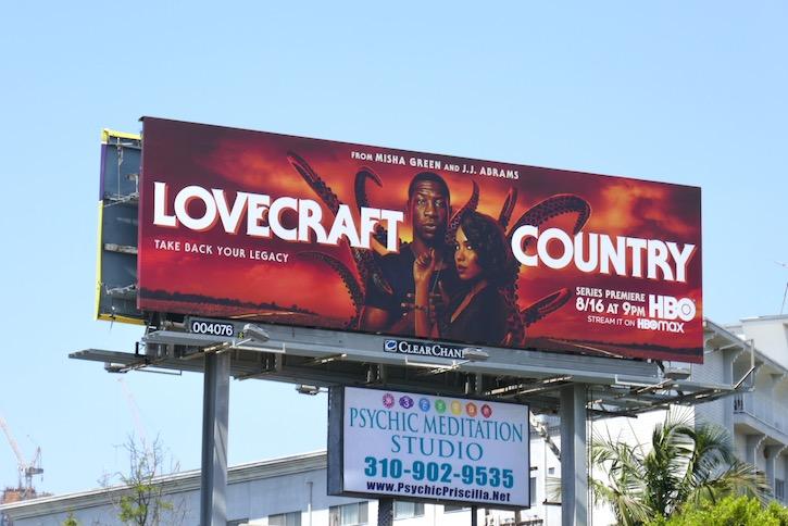 Lovecraft Country series premiere billboard