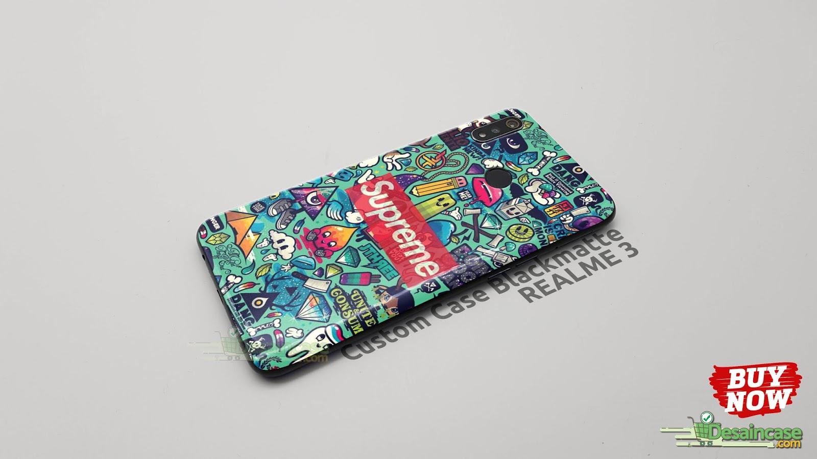 Mockup Custom Case Blackmatte Realme 3 Premium