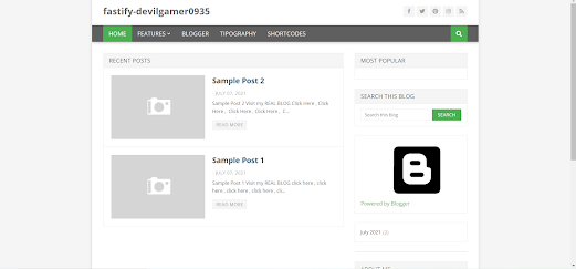 Download Fatify Blogger Template