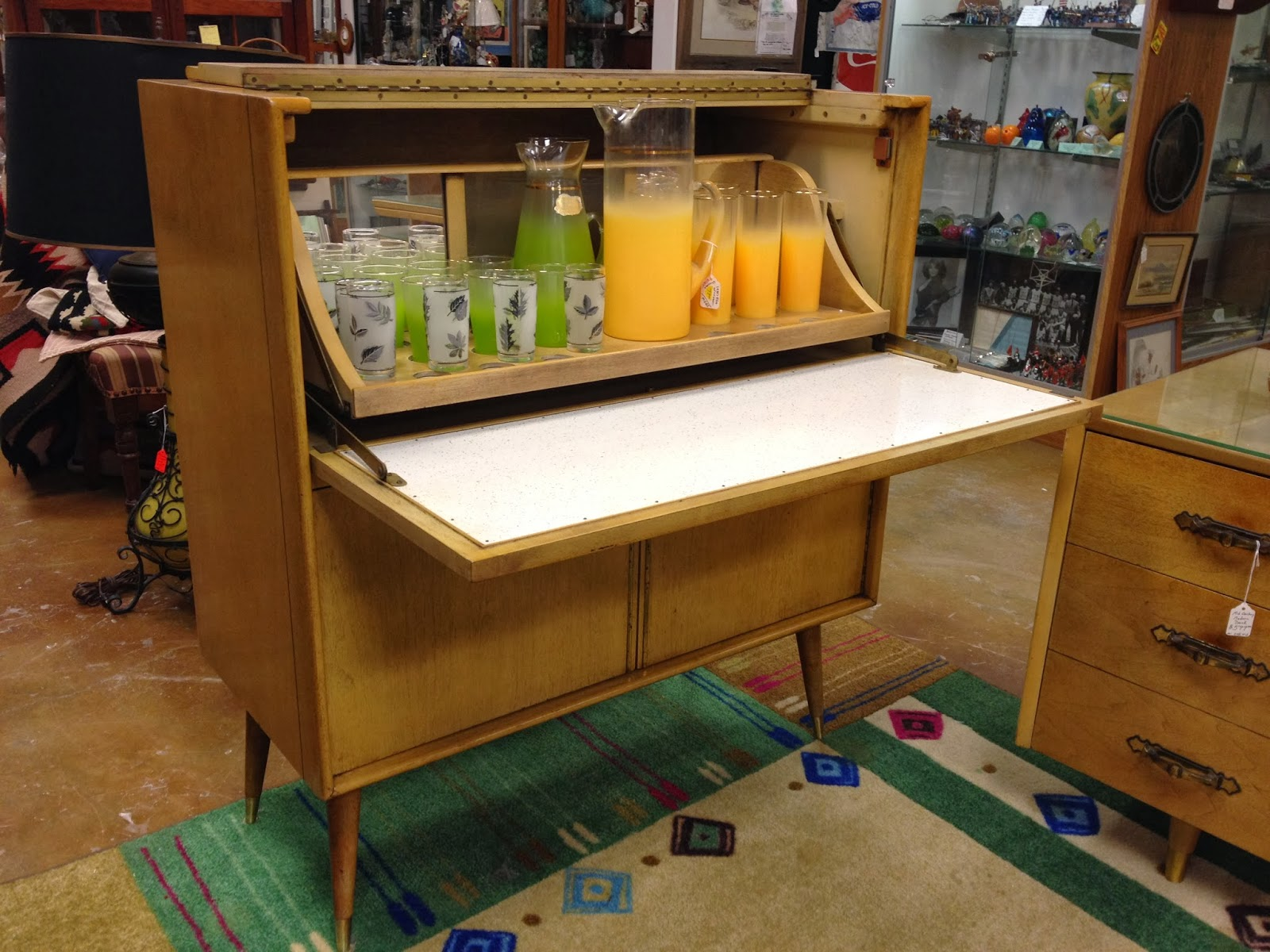 Mid Century Modern Furniture Bar and Desk