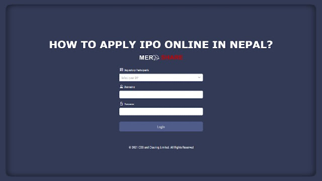 Fill IPO online in Nepal