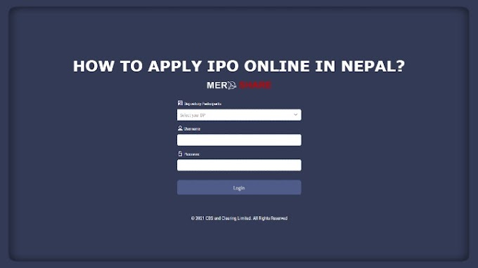 How to Apply IPO Share Online in Nepal using Mero Share?