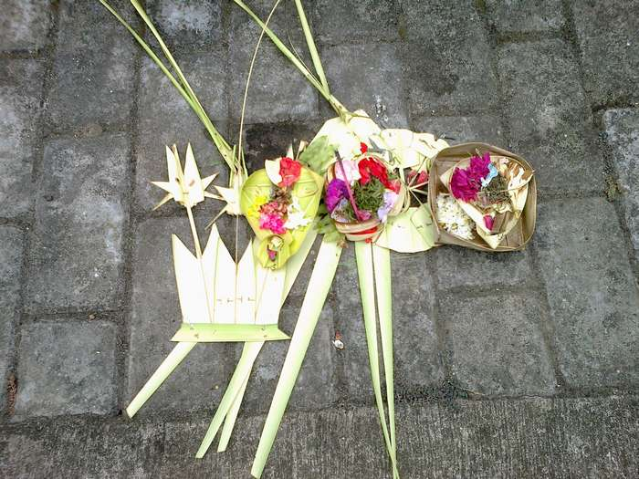 Banten Segehan, offerings to supernatural spirits, so that they can live peacefully side by side with humans in Bali