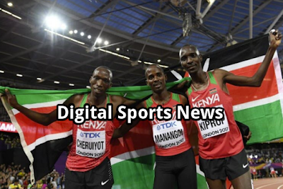 Kenyan Asbel Kiprop, A Three-Time World Champion And 1,500-Meter Olympic Gold Medalist