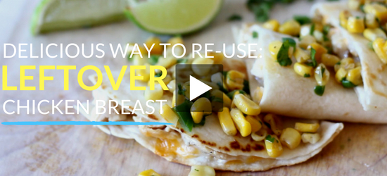 YouTube Video: Delicious Way to Re-Use Leftover Chicken Breat