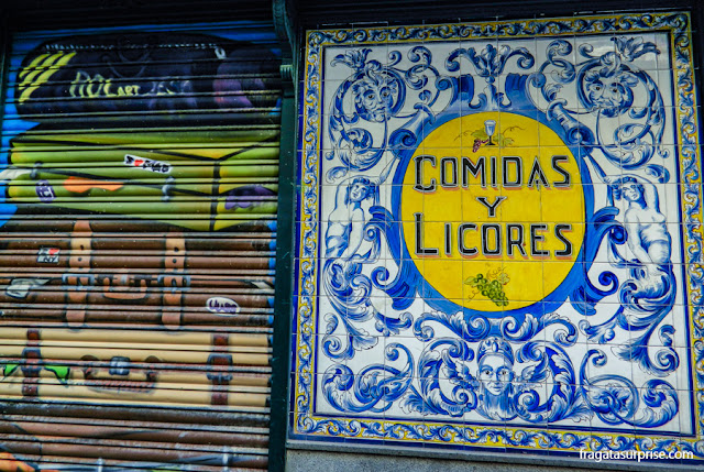 Tasca tradicional do Bairro de Las Letras, Madri