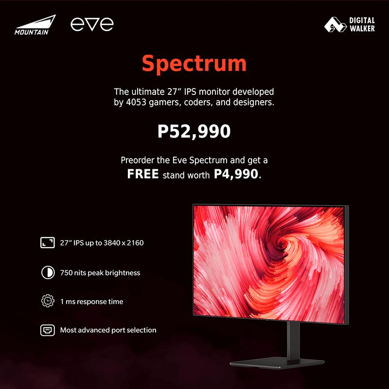 Eve Spectrum 4K UHD IPS monitor