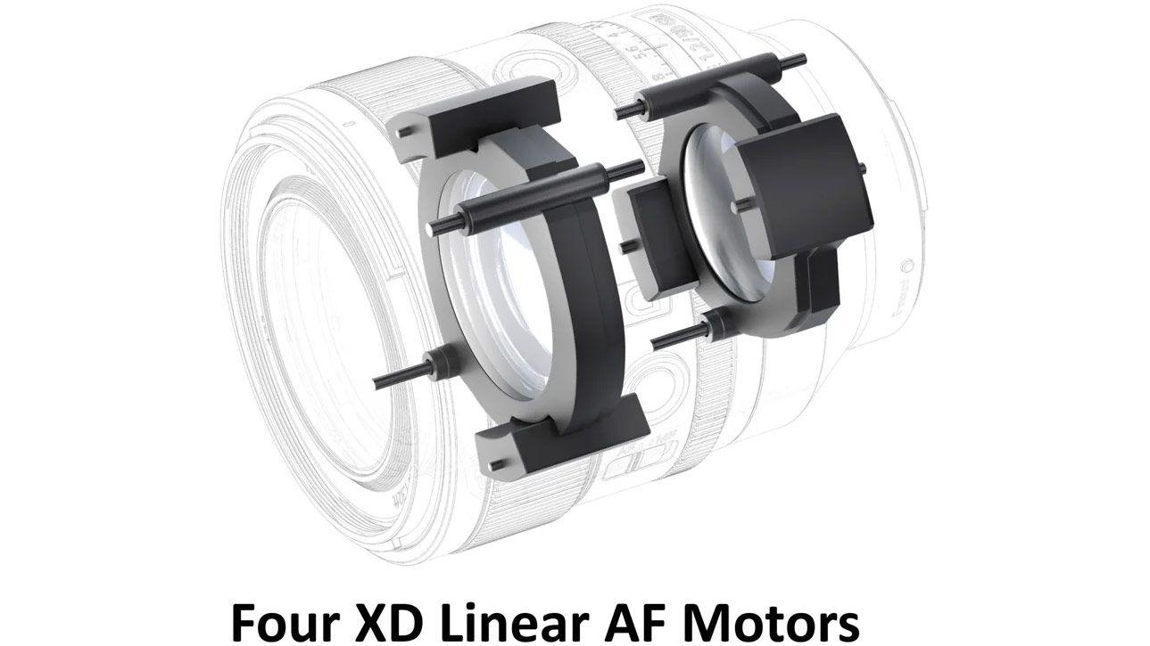 Четыре линейных двигателя в объективе Sony FE 50mm f/1.2 GM