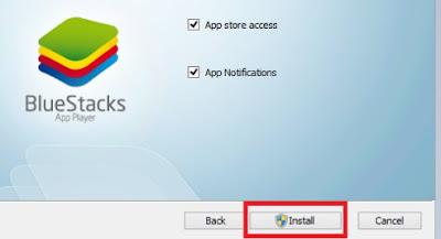 install bluestack after download bluestack