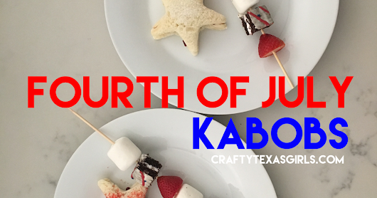 Dessert Kabobs for the Fourth of July