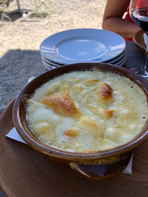 Polenta concia (infused with Fontina cheese) at Rifugio Elisabetta.