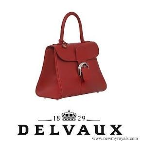 Queen Maxima style DELVAUX Brillant MM Handbag