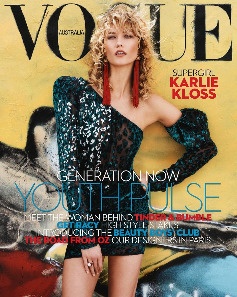 Karlie Kloss is an 80s icon for Vogue Australia April 2017