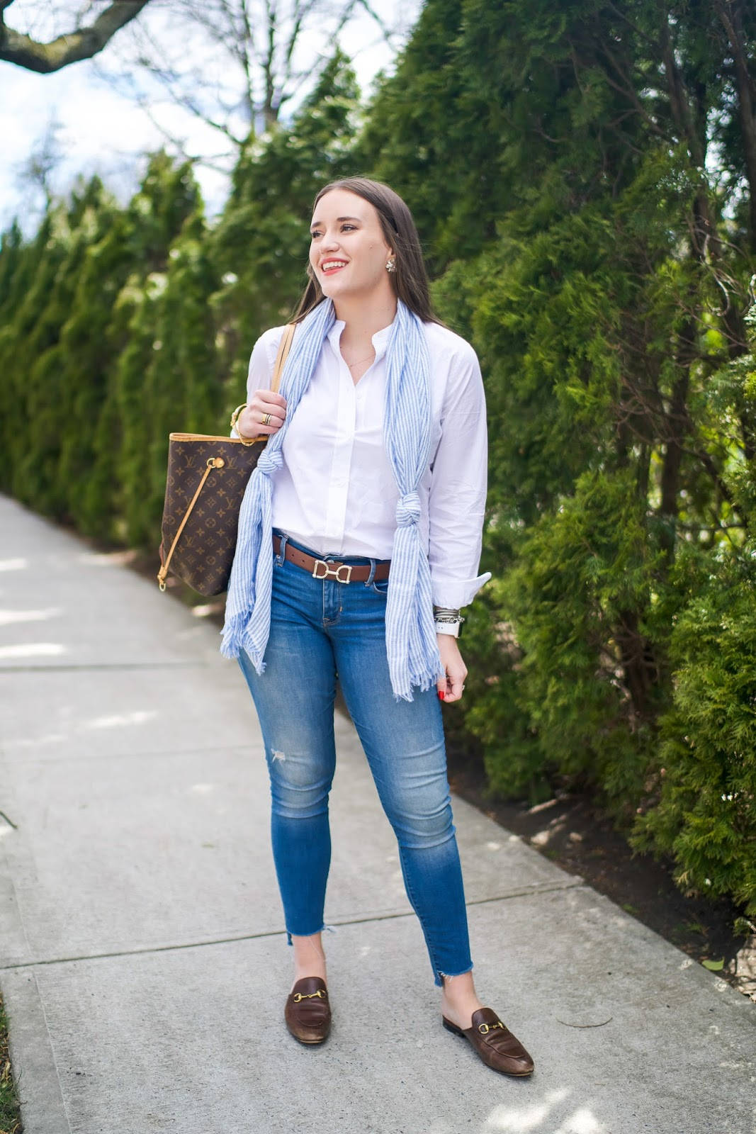 J Crew Stretch Perfect Bodysuit Review by popular New York fashion blogger Covering the Bases