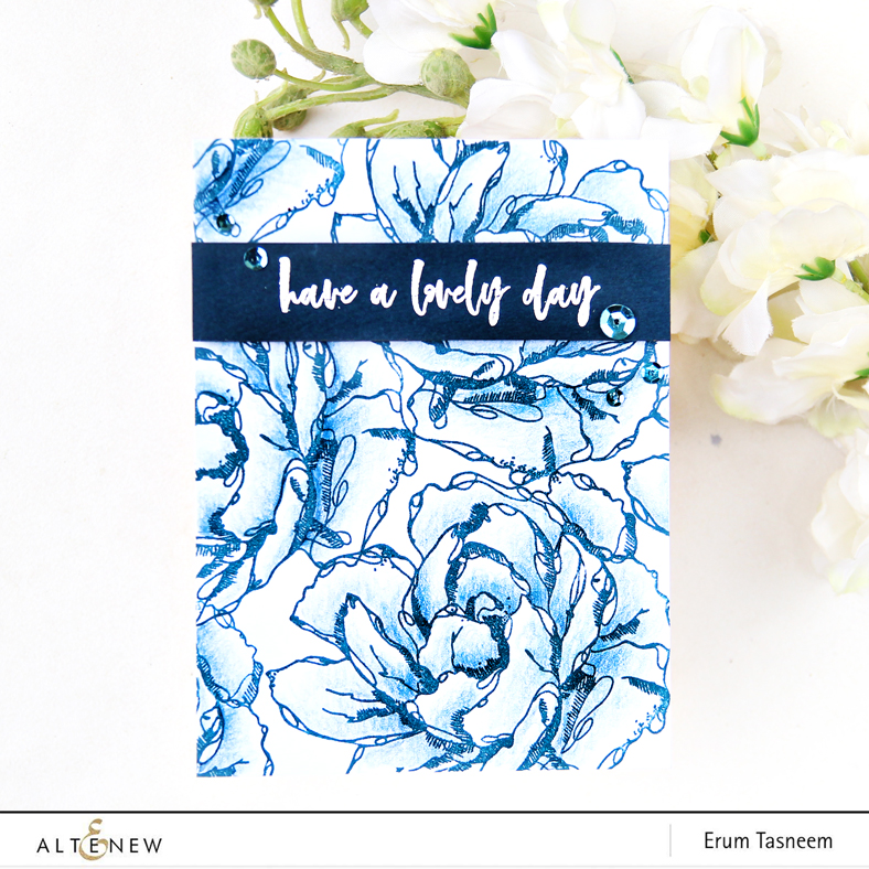 Altenew Inked Flora Stamp Set | Erum Tasneem | @pr0digy0