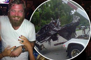 Picture collection of Ryan Dunn with car accident