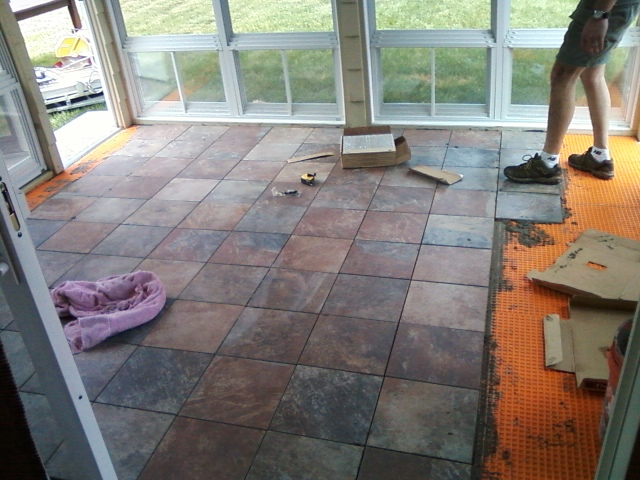 The On Line Buzzletter Installing Tile Floor On The Sun