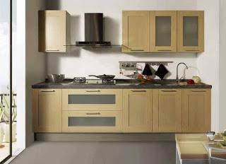 Dekorasi minimalis untuk dapur menggunakan satu sisi
