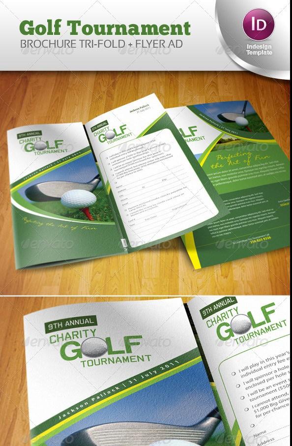 Free Premium Brochure Templates Photoshop PSD InDesign AI - Golf brochure templates