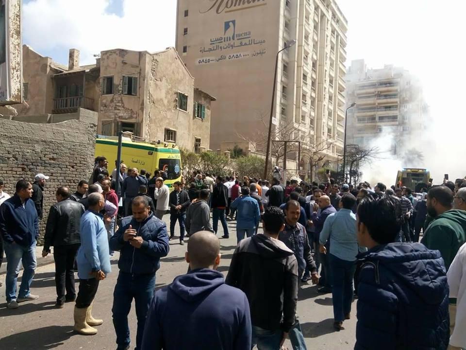 تفجير الأسكندرية بالصور