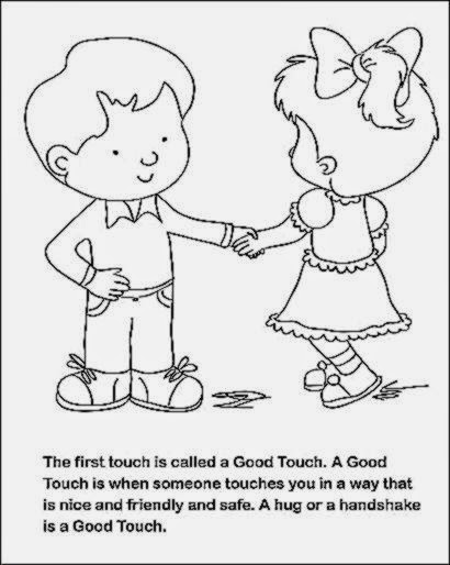 good touch bad touch coloring book free | Coloring Pages