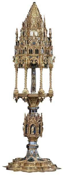 Η Σταυροθήκη στην οποία τοποθετείται για προφύλαξη η Σταυροθήκη του Castignano