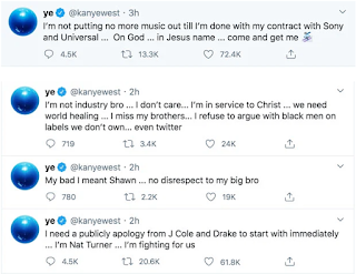 Kanye West wants a 'public apology' from Drake in yet another epic rant