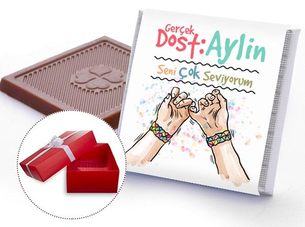 arkadaşa hediye çikolata
