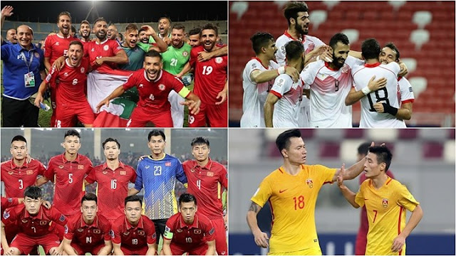 Danh sách 21 đội bóng đã đoạt vé vào VCK Asian Cup 2019