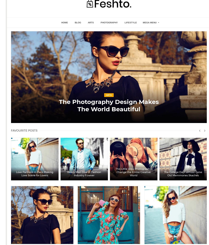 Feshto Photography Blogger Template