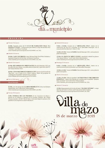 Mazo celebra el Día del Municipio con más de una docena de actividades culturales y deportivas