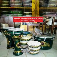 Toko Alat Musik Rebana di Cirebon - Pengrajin Rebana Solichin Toip Bumiayu Jual Rebana Hadroh Habib Syech Esklusif