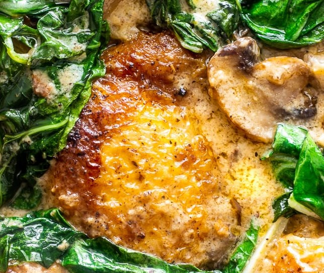 EASY SMOTHERED CHICKEN WITH BOK CHOY AND MUSHROOMS #dinner #ketofriendly