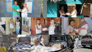 Jelang Idul Fitri Ditengah COVID 19, Hj Rasni Pontororing Kembali Membagi Bantuan Pada Jama'ah Kurang Mampu.