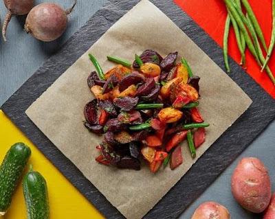 Винегрет из печеных овощей рецепт