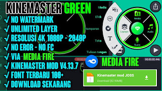 KINEMASTER GREEN BLACK MOD