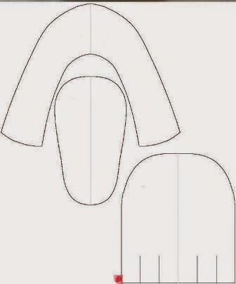 patrón zapato de raso para bebé