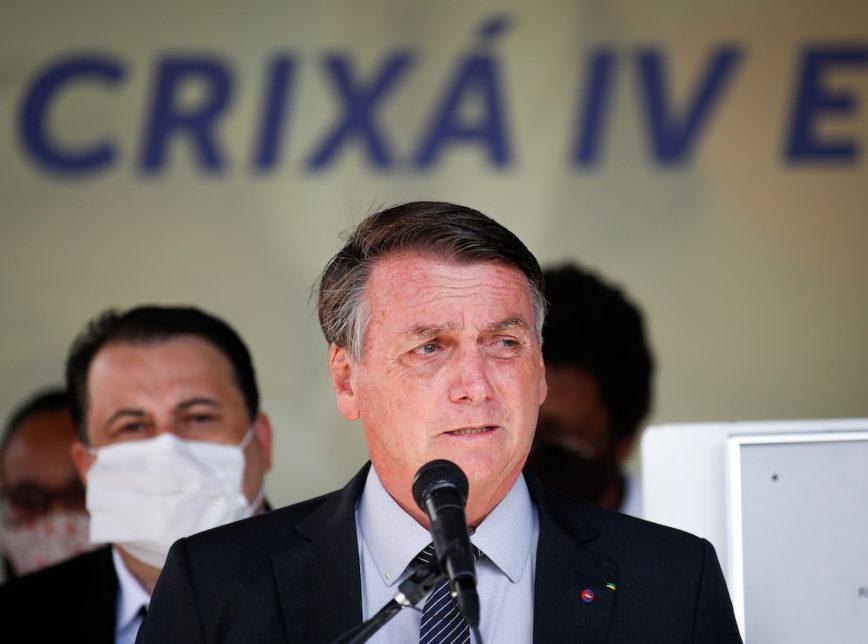 """Bolsonaro critica CPI da Covid: """"O que menos precisamos é de conflito""""  Também criticou proibição de cultos  Transmissão do vírus é """"quase zero"""""""