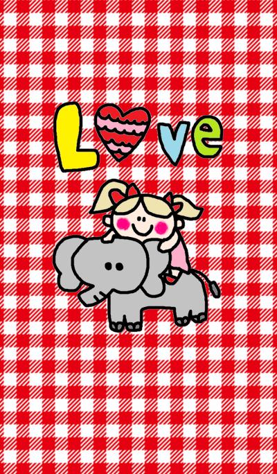 girl & elephant